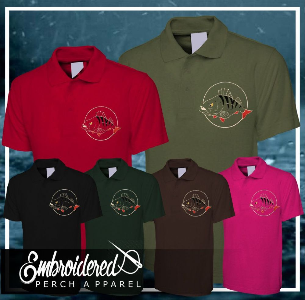 032 EMBROIDERED PERCH POLO